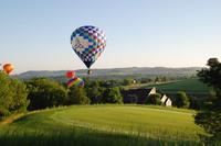 In Heißluftballons majestätisch über Galena und dem Mississippi schweben