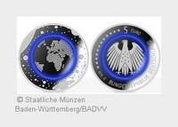 Neue deutsche 5-Euro-Samlermünze kommt in moderner HighTech-Ausführung