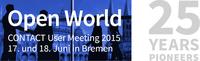 25 Years Pioneers: Open World 2015 steht im Zeichen von CONTACTs Jubiläum