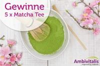 Gewinnspiel - 5 x 100 g Ambivitalis Matcha Tee
