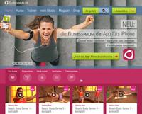 Brandneu: die fitnessRAUM.de-App fürs iPhone - überall mobil trainieren.