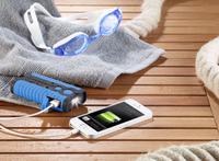 revolt IP65 Wasserfeste Outdoor-Powerbank 5.200 mAh mit LED-Lampe