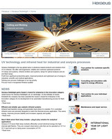 New homepage provides fast and comprehensive information about process solutions with technical light