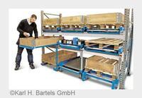 Bartels macht Palettenregale zu Verwandlungskünstlern