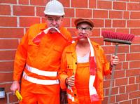Bad Salzuflen startet durch: Einweihung der Fußgängerzone mit den Comedy-Bauarbeitern