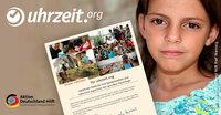Uhrzeit.org übergibt Spendenscheck an die Syrienhilfe