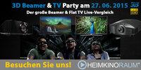 3D Beamer & TV Party in allen HEIMKINORAUM Standorten