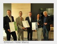 Atrium Hotel Mainz erneut vom VDR ausgezeichnet