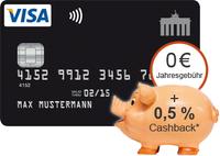 Deutschland Kreditkarte - Cashback für Neukunden 3 Monate lang! *