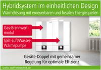 Brennwertmodul plus Wärmepumpe
