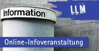 Online-Infoveranstaltung zum LLM-Programm