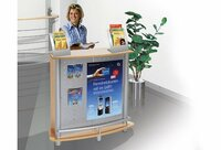 Messetheke EXPO  - attraktive mobile Theke für viele Einsatzmöglichkeiten