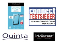 Neue prämierte MyScreen Diamond Glass Folien bei Quinta