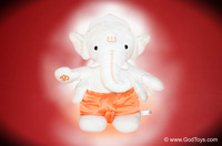 Cuddly Spiritual Ganesha Plush Figure by GodToys.com Launched