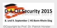 Bonn-St. Augustin: D-A-CH Security 2015 - Konferenz zu Themen der IT-Sicherheit 8./9. September