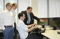 Fahrsimulation: Virtual Reality im Master-Studium Mechatronik