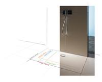 Neue Großformate für die bodengleiche Dusche