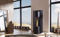 CERA Design: Eine futuristische Flammensäule im Pellet-Ofen - das ist wirklich die Höhe