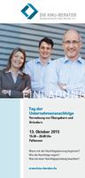 Tag der Unternehmensnachfolge in Falkensee - Dienstag, 13. Oktober 2015