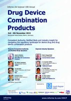 """Informa life sciences´10 th annual - Drug Device Combination products"""