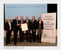 B.A.U.M.-Umweltpreis für NATURSTROM-Vorstand Dr. Thomas E. Banning