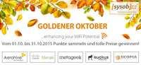 """Belohnung für WLAN-Projekte: sysob sorgt für einen """"Goldenen Oktober"""""""