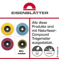 Naturfaser kontra Glasfaser  Exklusiv bei Eisenblätter GmbH! Trägerteller aus nachwachsenden Naturfasern.