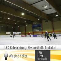 Eissporthalle Troisdorf erstrahlt in neuem Licht.