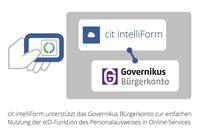 cit intelliForm unterstützt nun auch Governikus Bürgerkonto