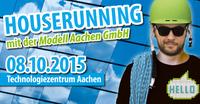 Bewerbungsgespräch auf dem Dach: Houserunning Event mit Modell Aachen