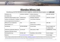 Ringler Research: Studie zu Klondex Mines veröffentlicht / Bewertungskurs 3,80 CAD / 2,62