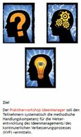 Ideen erfolgreich managen, Schritt für Schritt zum Ideenmanagement-Erfolg