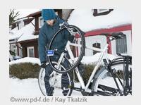 Radfahren im Winter: Spike-Reifen kauft man besser jetzt