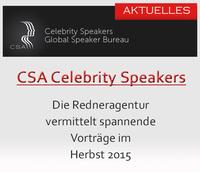 Redneragentur CSA - spannende Veranstaltungen im Herbst 2015