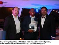"""Greenwave Systems erhält Auszeichnung für die """"Innovativste IoT-Lösung"""""""