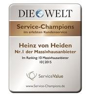 Heinz von Heiden ist Service-Champion 2015 der Massivhausanbieter