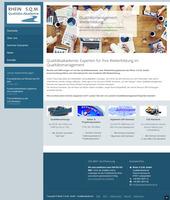 Die Qualitätsakademie, der Weiterbildungsbereich der Rhein S.Q.M. GmbH, präsentiert sich mit runderneuerter Website