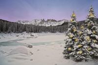 Weihnachtszauber am Karer See im Eggental - Südtirol