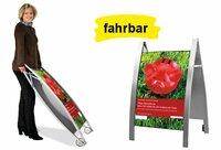 Wirkungsvoller Gehwegaufsteller und attraktiver Plakatständer A1