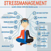 Neue Stress-Infografik: 14 Stressmanagement-Tipps für Beruf und Freizeit