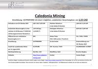 Ringler Research: Studie über Caledonia Mining Corp. veröffentlicht / Analytischer Bewertungskurs 1,55 CAD / 1,14  (+86% Kurspotenzial)
