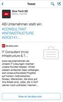 Dice macht #Dice141 Twitter-Job-Karten in Deutschland verfügbar