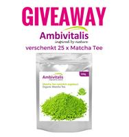 Gewinnspiel - 25 x 100 g Ambivitalis Matcha Tee