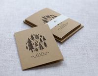 Handbedruckte Spendenkarten zu Weihnachten
