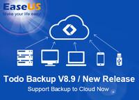 EaseUS Todo Backup Version 8.9 mit Cloud-Backup-Lösung jetzt verfügbar