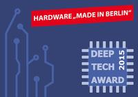 Preis ausgelobt: 1. Deep Tech Award