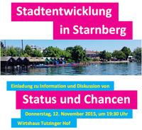 Stadtentwicklung in Starnberg: Status und Chancen