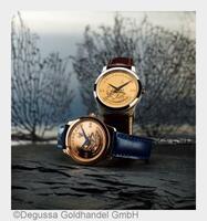 Eleganz und Präzision in Degussa-Gold: Neue Uhrenkollektion mit echtem Krügerrand-Ziffernblatt