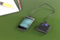 revolt USB-Powerbank mit 6.600 mAh, LCD-Display & LED-Lampe