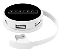 Xystec Intelligenter USB-2.0-Hub mit 4 USB-Ports, BC-1.2-Ladeprotokoll